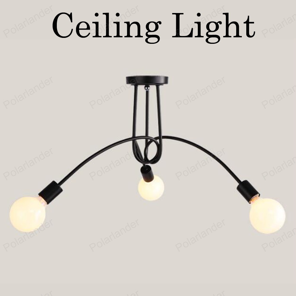 ФОТО 3/5 Heads red black white Led Ceiling Lights Home Lighting Lamparas De Techo Lustre Living Room Vintage Ceiling Lamps Fixtures