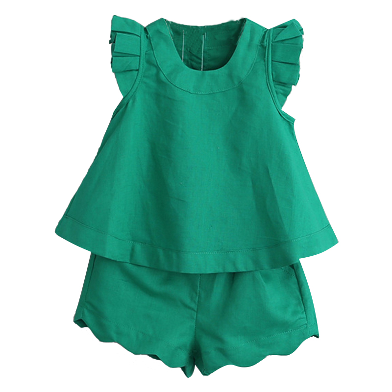 Kids Girls Clothing Sets Summer New 2017 Brand Girls Clothes short Sleeve T-Shirt+Pant Dress 2Pcs Children Clothes Fashion Style