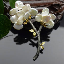 Amxiu индивидуальные натуральный барочный жемчуг брошь ювелирные изделия ручной работы филиал Броши шпильки аксессуары для женская одежда