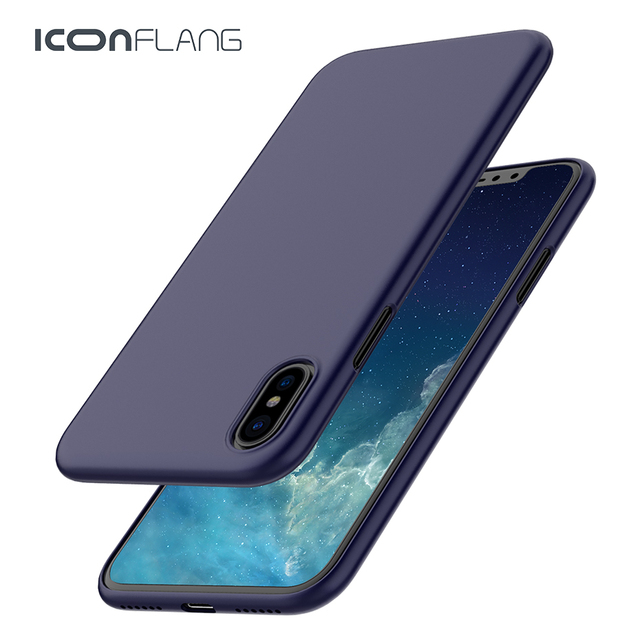 For iPhone X Case, ICONFLANG Slim Protective PP Silicone Cover Case for iPhone X Coque Funda shell case for iPhone X