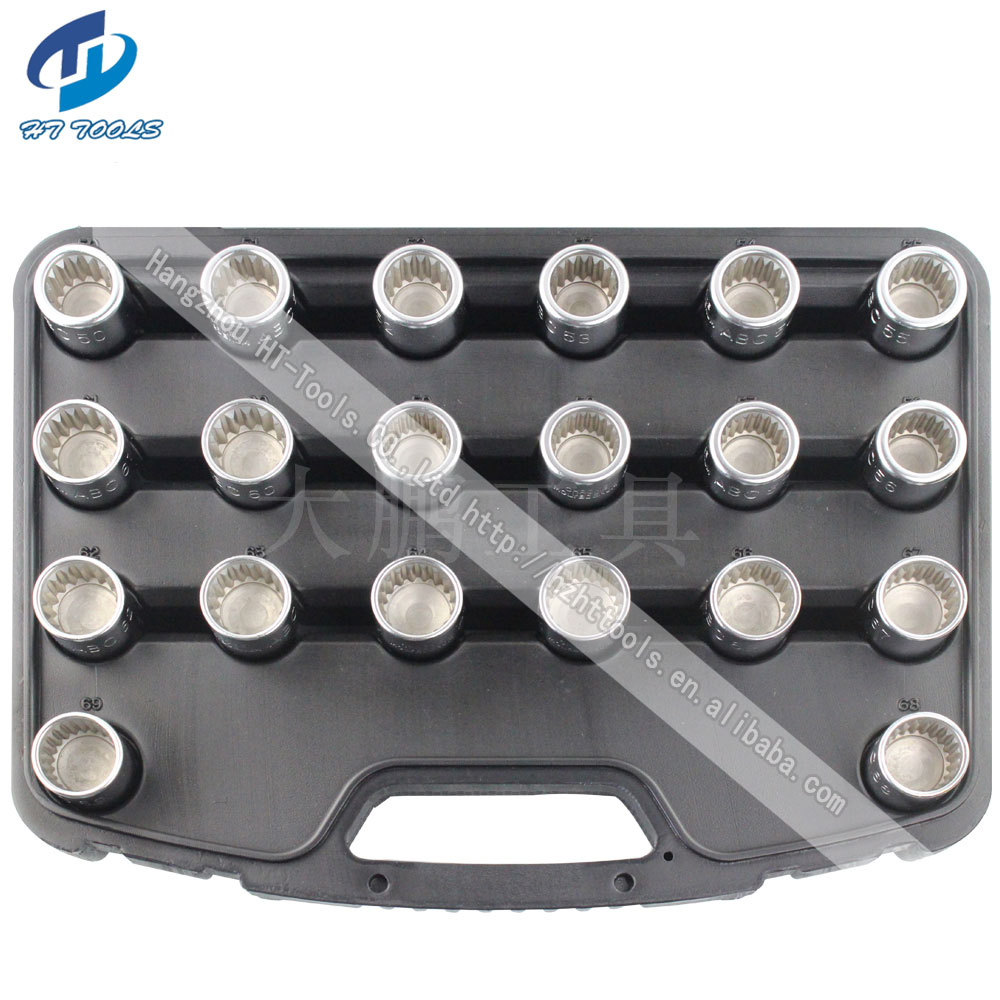 20pcs Wheel Screw Lock Socket Set For Porsche Cayenne For Anti-theft Socket Removal