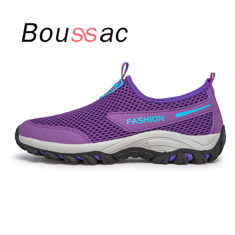 comfortable lightweight  walking  shoes summer Mesh shoes non-slip soft-soled shoes outdoor himing sneakers 2018new unisex shoes