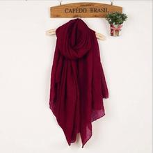 Autumn and Winter Women Scarf High Quality Shawls And Scarves Linen Cotton Scarf Warm Solid Much Color Scarf Free Shipping