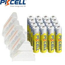 16 szt. PKCELL 1.2V Ni-MH pilas akumulator aaa bateria aaa 1000MAH i 4 szt. Pojemnik na pudełko na baterie AA/AAA