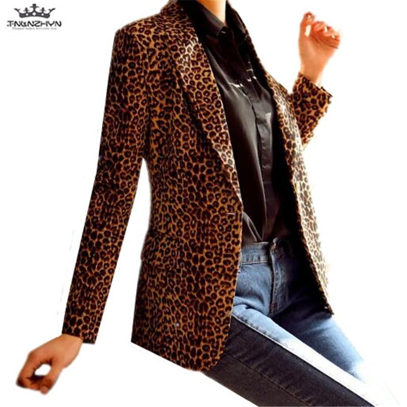 tnlnzhyn 2019 New Spring Autumn Plus Size Women Blazers Suit Jackets Casual Long Sleeve Blazers Slim Blazer Jackets Y1029 jeans con blazer mujer