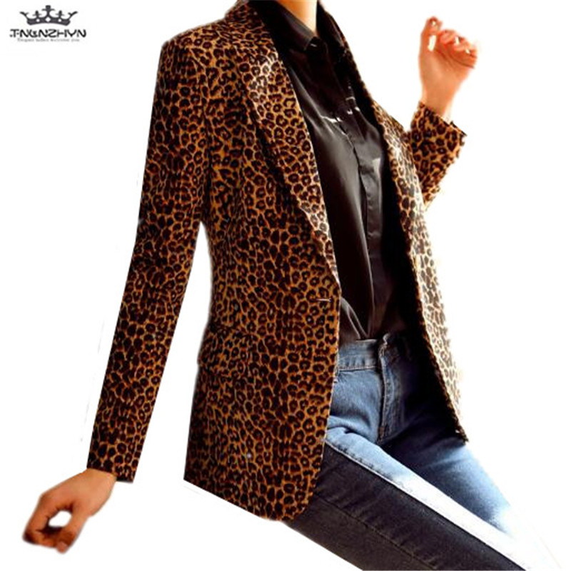 Tnlnzhyn 2019 Nouveau Printemps Automne Plus La Taille Femmes Blazers Costume Vestes Casual Manches Longues Blazers Slim Blazer Vestes Y1029