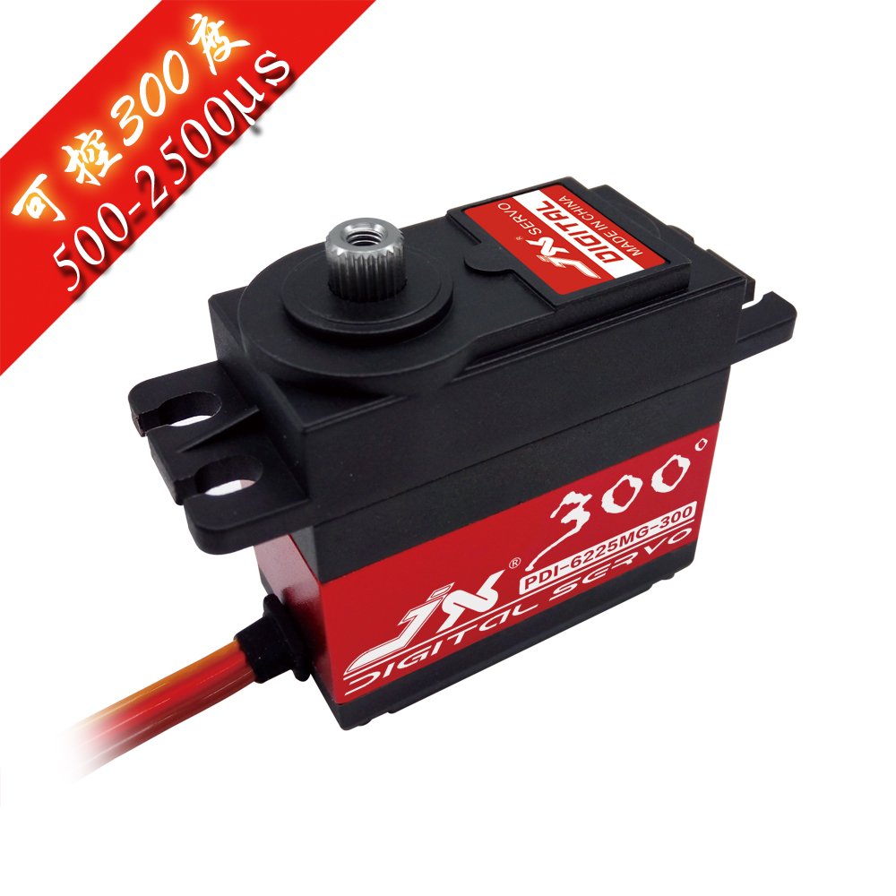 JX Servo/PDI - 6225 mg - 300/25 kg large torsion/metal teeth digital Servo robot jx servo pdi 6115 mg kg 15 large torque torque metal gear steering gear digital hollow cup standards