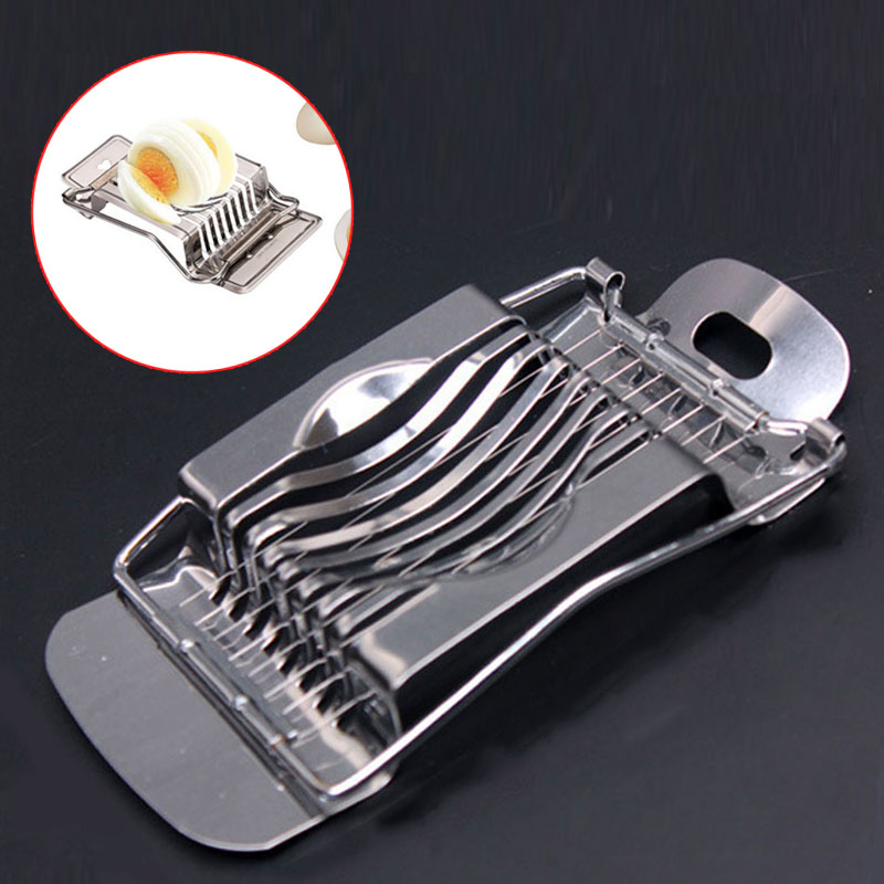 Hot Sale Stainless Steel Boiled Egg Slicer Section Cutter Mushroom Tomato Cutter For Cooking Tool