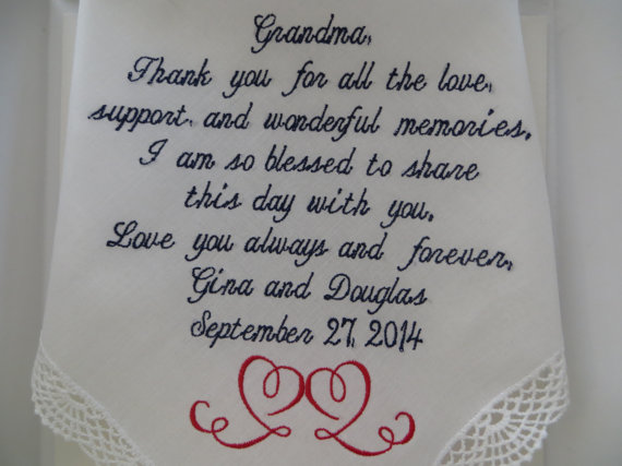 Mens Wedding Gifts From Bride: Personalized Gracious Grandmother Of The Bride Or Groom