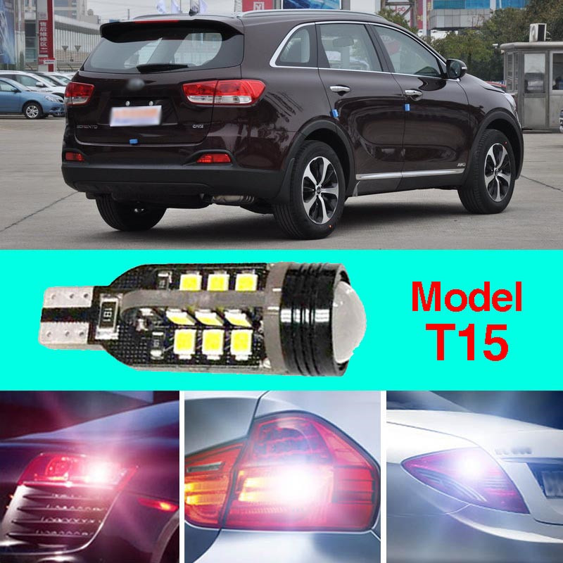 Error Free T15 Socket 360 Degrees Projector Lens LED Backup Reverse light R5 Chips Replacement Bulb For Kia Sorento error free t15 socket 360 degrees projector lens led backup reverse light r5 chips replacement bulb for hyundai tucson