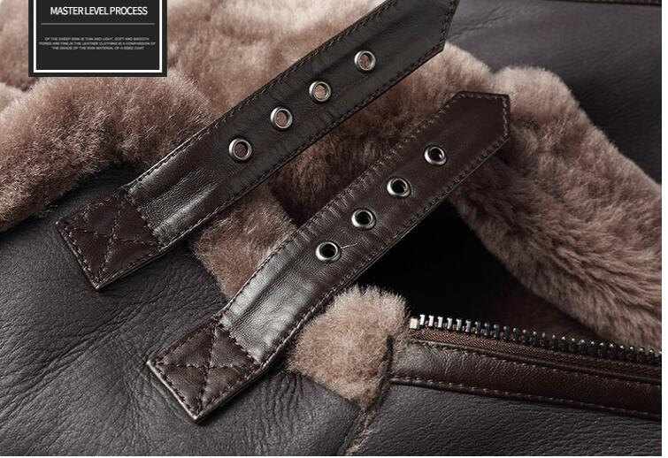 HTB1aKNAKv9TBuNjy0Fcq6zeiFXag AYUNSUE Genuine Leather Jacket Men Winter Australian Natural Fur Real Sheepskin Coat for Men Lamb Fur Flight Men's Jackets KJ853
