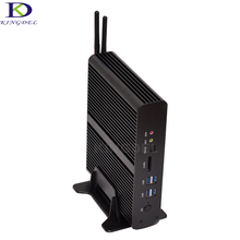 Большое содействие htpc intel core i7 5500u 5550u 4500u dual lan безвентиляторный mini pc micro computer 2 * hdmi mini desktop pc tv box 3.0 ГГЦ