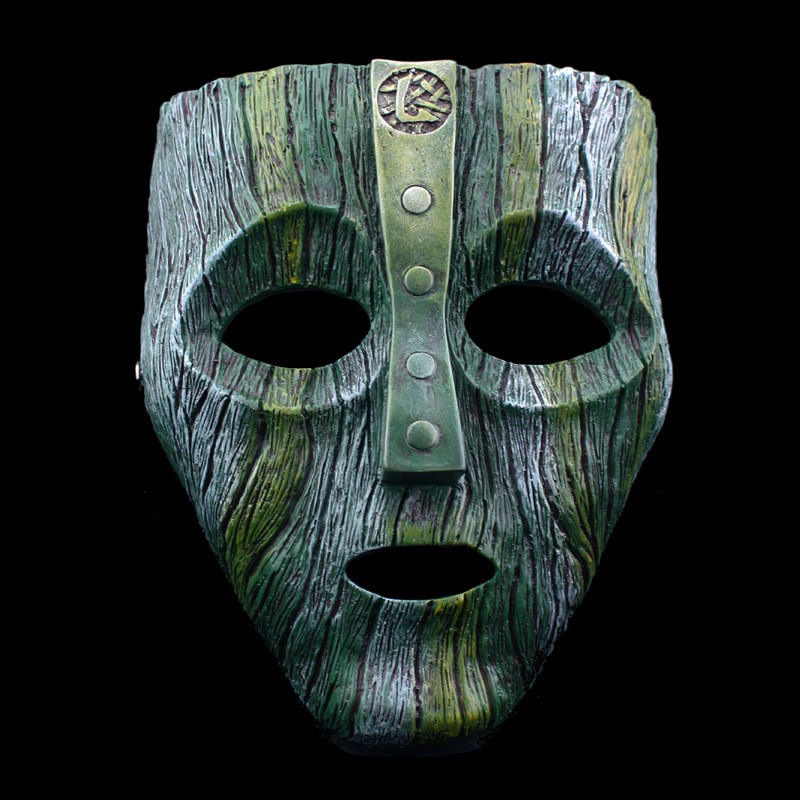 Diaz Loki Halloween Resin Masks Jim Carrey Venetian Mask The God of Mischief Masquerade Replica Cosplay Costume Props