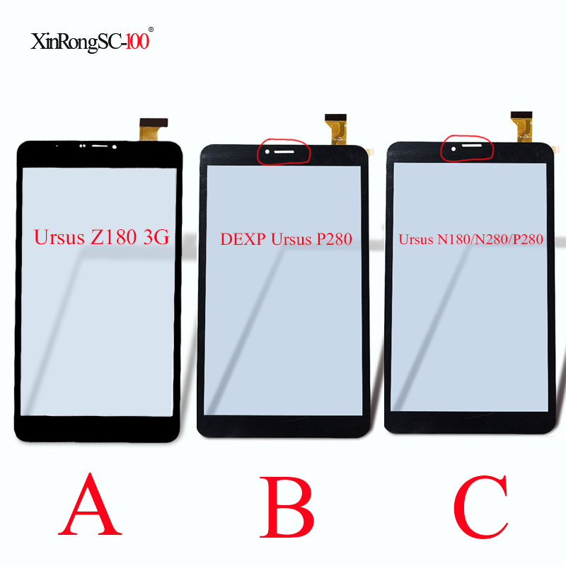 New 8 Touch Screen panel digitizer glass For DEXP Ursus Z180 3G/N280/N180/P280/NS280 Tablet Touch Sensor Replacement new for 10 1 dexp ursus 10w 3g windows tablet capacitive touch screen panel digitizer glass sensor replacement free shipping