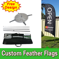 Free Design Free Shipping Single Sided Flags with Cross Base Cheap Golf Day Banners Outside Advertising Flags Tall Flags