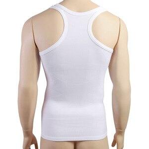 Image 4 - Mens Sleeveless Top Muscle Vest Shaping Corset Tight Slimming Body Shapewear  Slim Tummy Belly Undershirts O Neck Gymclothing