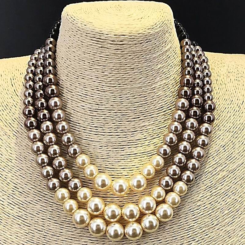 Luxury Simulated Pearl Choker Necklace Women Bijoux Classic New Fashion Jewelry Christmas Gift