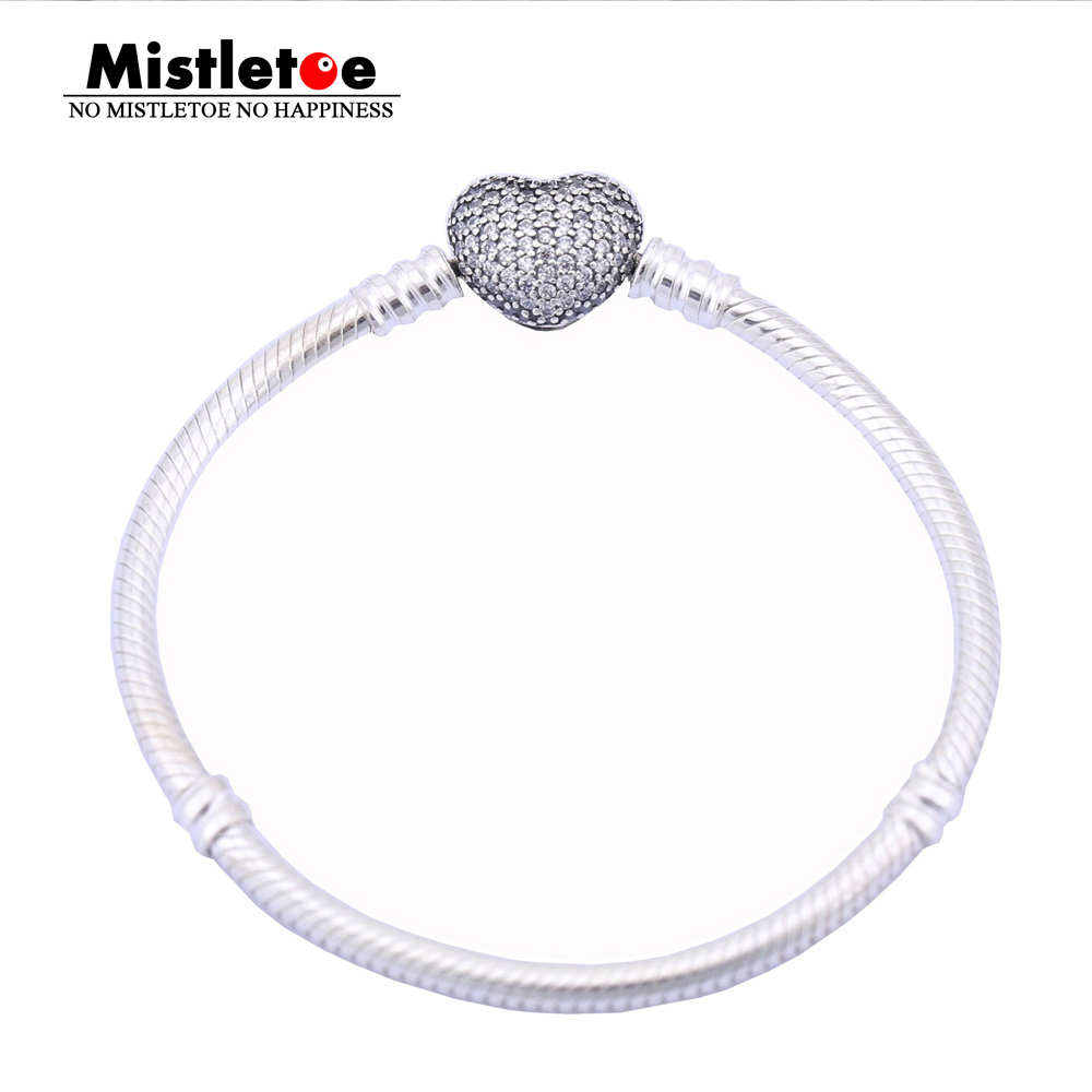 Authentic 925 Sterling Silver Original Pave Heart Bracelet, Clear CZ Bracelet Women Snake Chain Fit Eurpeon European JewelryAuthentic 925 Sterling Silver Original Pave Heart Bracelet, Clear CZ Bracelet Women Snake Chain Fit Eurpeon European Jewelry