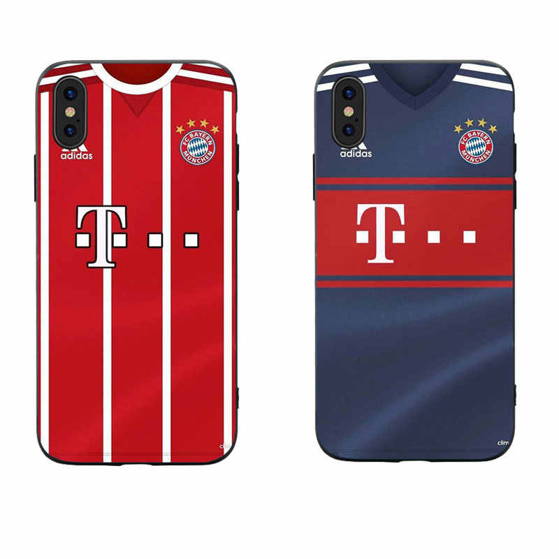 brand new 4d193 345d2 MA Bayern Germany Football logo Jersey Style Retro Phone Case For Iphone5  5S SE 6 6S 7 8 Plus X XS XR XS max soft cover