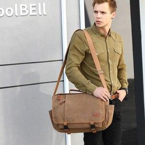 Image 3 - Vintage Canvas Briefcase Men Laptop Suitcase Travel Handbag Men Business Tote Bags Male Messenger Bags Shoulder Bag 2020 XA200ZC