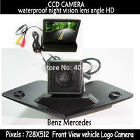 LCD Mirror Car front View Monitor With Front ccd Camera for Benz Mercedes Vito Viano A B C E G GL SLK GLK SL R GLA CL CLA AMG