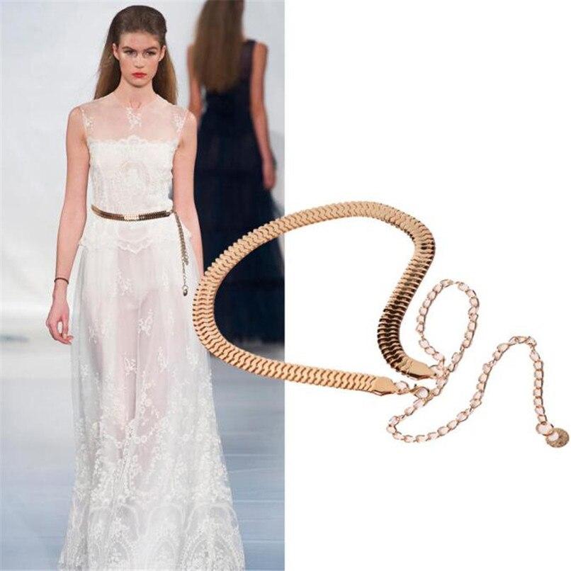 Women\'s Lady Fashion Metal Chain Pearl Style Belt Body Chain  Belts For Women Dresses Waist Belt Women Slim 40AG300