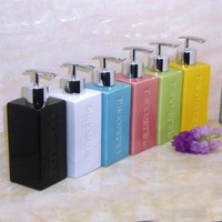 Freee Shipping 350ml Ceramic Hand Sanitizer Bottle Emulsion Hair Lotion Bottle Shower Gel Bottle Bathroom Supplies