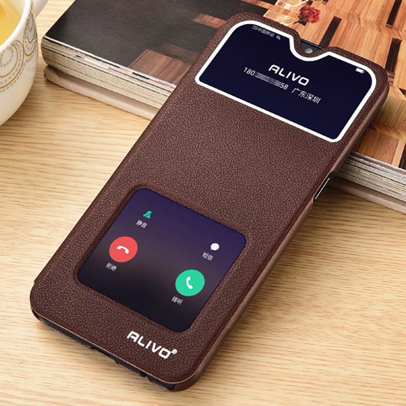 6.4\'\' For OPPO RX17 Neo Case View Window Flip Stand PC Phone Case For OPPO RX17 Neo RX 17 Neo R17 Neo Rx17neo Answer PU Leather