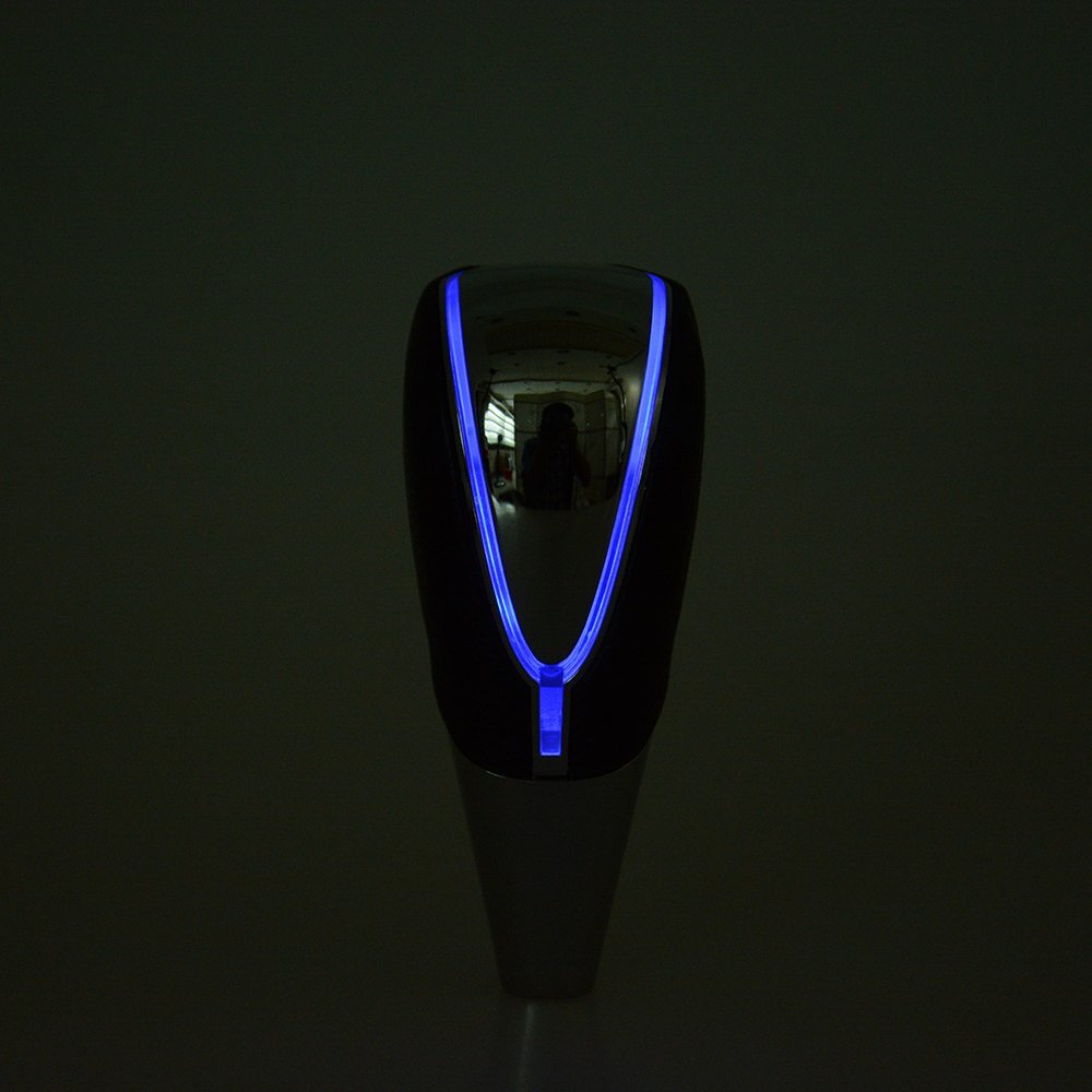 XYIVYG M8 x 1.25 General Car Racing Touch Activated LED Light Shift Knob Magic Shifter Blue