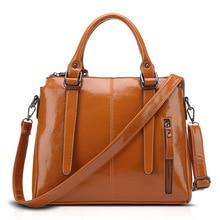 Modische neuen casual schwarzen umhängetaschen großen ölwachsleder damentasche vintage handtasche frauen umhängetasche 8059