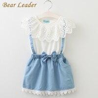 2015 New Girls Cute Dress White Princess Belt Denim Dress Sleeveless Cotton Summer Dress Lovely Baby