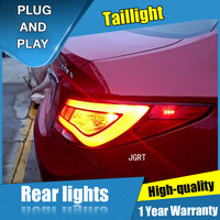 2PCS Car Styling for Hyundai Accent Taillights 2011 2014 for Accent LED Tail Lamp+Turn Signal+Brake+Reverse LED light
