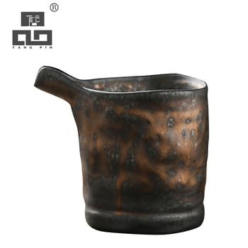 TANGPIN ceramic tea infusers handmade tea pitcher chahai chinese kung fu tea accessories 260ml tangpin coffee and tea tools tin tea strainers handmade kung fu tea accessories