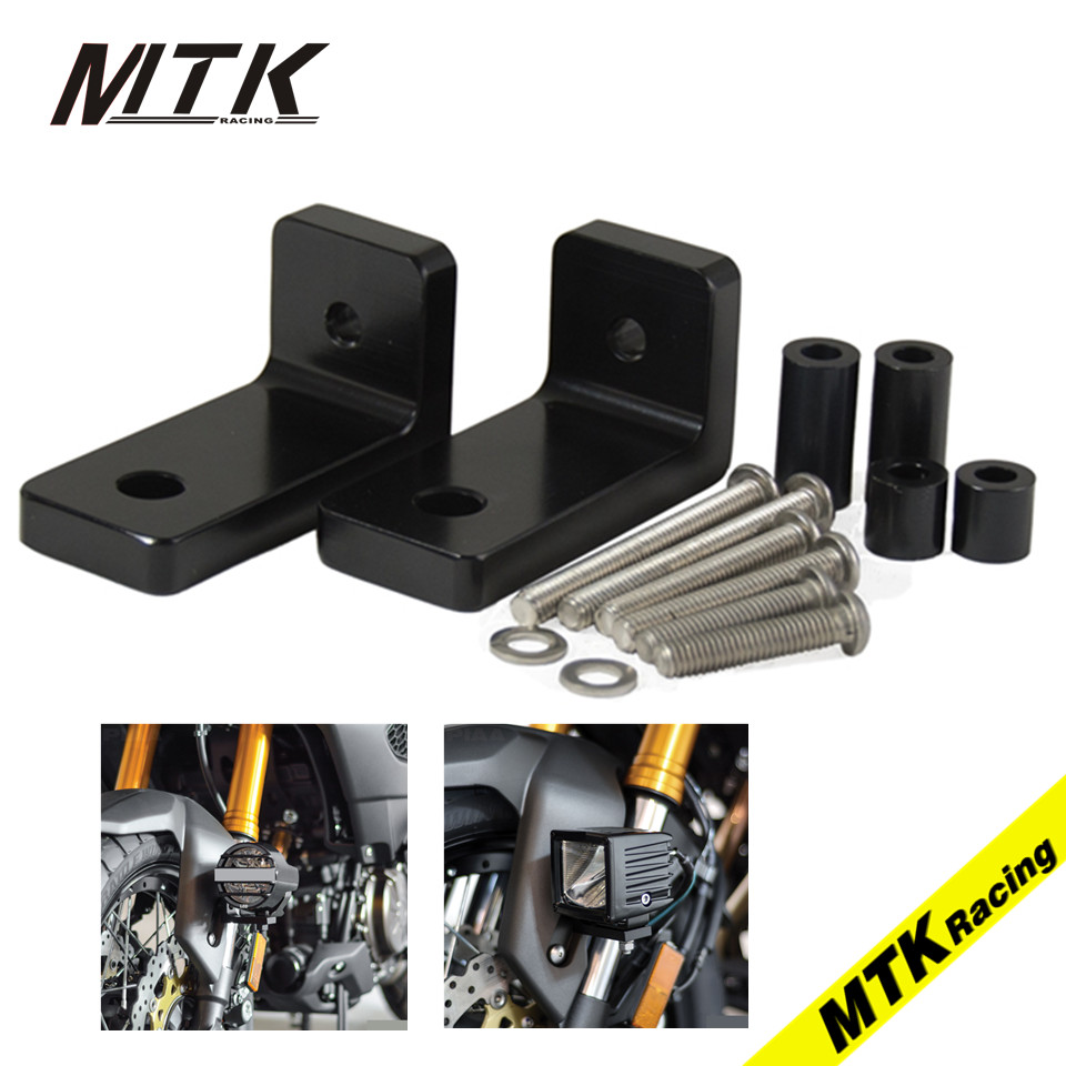 MTKRACING M6 Lower Fork Mount Kit with L Lights Bracket For Moto Guzzi Norge GT 8V Griso 8VSE Stelvio 1200NTX Black 6mm motorbike body work fairing bolts screwse for moto guzzi griso breva 1100 1200 gt8v 1200 sport kawasaki zx9r z1000sx z750