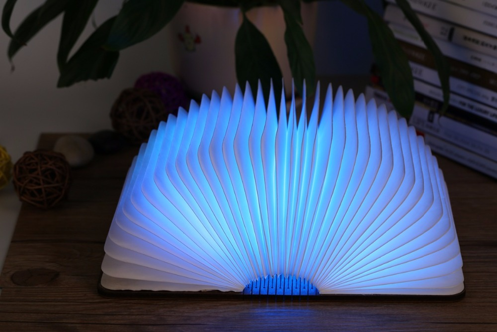 2016 New Creative Colorful Luminous Portable USB LED Book Light Folding Led Book Lamp Night Lamp With Rechargeable Battery new arrival rgb folding notebook led light 5 colors creative gifts 5v usb rechargeable book lamp eye protecting night lights