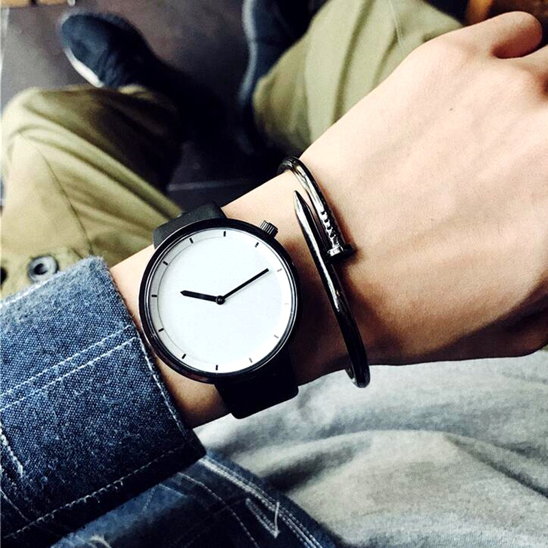 2017 New fashion minimalist men's wristwatches Korean version simple casual quartz leather watch men clock relogio masculino ultra thin watch male student korean version of the simple fashion trend fashion watch waterproof leather watch men s watch quar