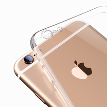 For iPhone6 TPU Soft Case Protect Camera Cover Crystal Clear Transparent Silicon Ultra Thin Slim Shell for iPhone 6s 7 Plus