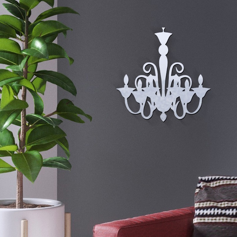 New Acrylic Abstract Wall Sticker Decorative Mirror Surface Wall Stickers For Home Decoration Stickers On The Wall Drop Shipping in Wall Stickers from Home Garden