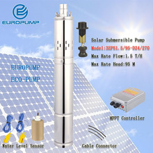 EUROPUMP MODEL(3EPS1.5/95-D24/270) Japanese solar water pump sri lanka price 95m lift head solar water pump 24v dc submersible lift small dc 24v solar pump70m submersible power solar water pump for outdoor garden deep well diaphragm solar pump