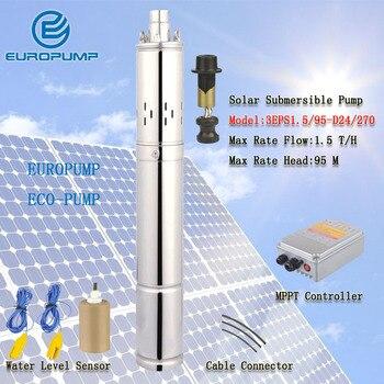 EUROPUMP MODEL(3EPS1.5/95-D24/270) Japanese solar water pump sri lanka price 95m lift head solar water pump 24v dc submersible