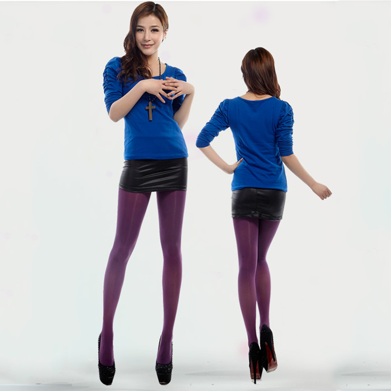 71b5e5b7ac9b0 1PC New Pantyhose 120D Opaque Tights Anti-hook Wire Fashion Thick Socks Warm  Winter Footed Velvet Women Stockings Solid Color