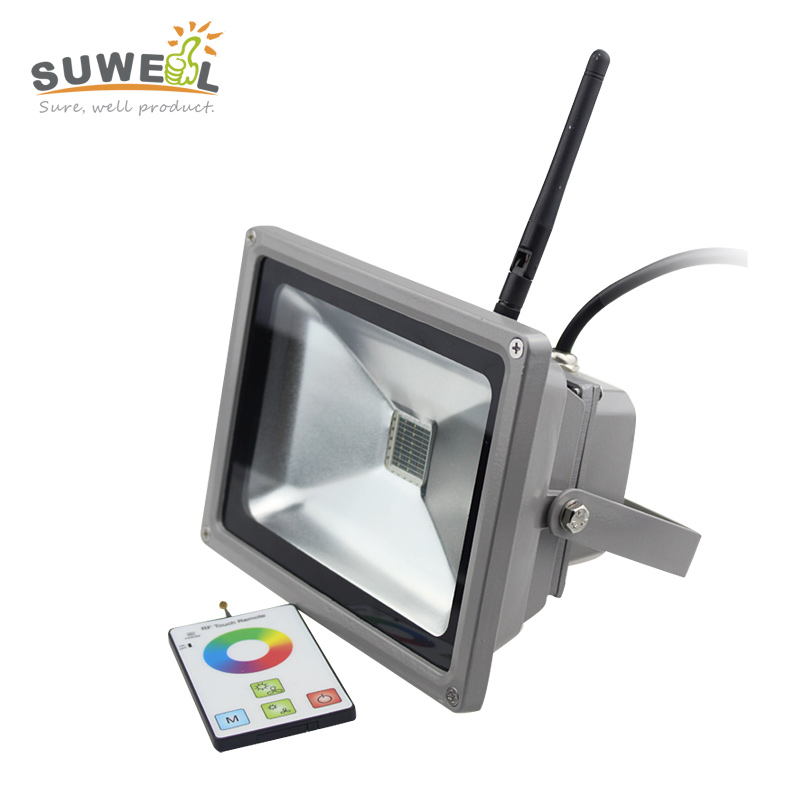 ip65 cob rgb led flood light 30w 433 hz rf remote control waterproof outdoor landscape wall lighting led floodlight high quality 12v 50w colored rgb outdoor lights 110v wall projector flood light garden waterproof landscape lamp remote control by dhl 6pcs
