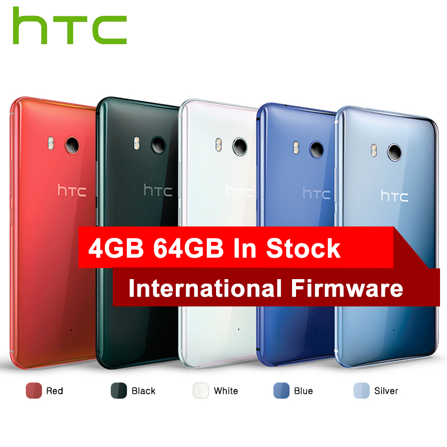Vendita calda HTC U11 4g LTE Mobile Phone Snapdragon 835 Octa Core IP67 Impermeabile 6 gb di RAM 128 gb ROM 5.5 pollice 2560x1440 p Smart Phone