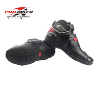 Pro biker Motobotinki leather boot for motorcycle moto boots botas para motorcycles motorboats Shoes motocross breathable black