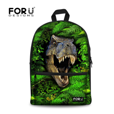 FORUDESIGNS 3D Animals Zoo Backpacks for Boys Girls Cool Dinosaur Back Pack High Middle Kids School Bag for Teenagers Mochila