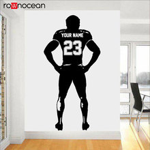 Personalized Team Name And Number Football Decal Play Vinyl Wall Sticker Home Deocr For Boys Room Teens Bedroom Custom 3Y30