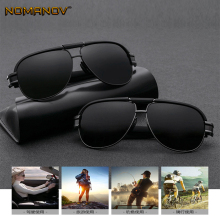 Sunglasses Men Polarized Retro Male Polarizer Plating Sun Visor Eyebrow Oversized Driving Fishing Glasses