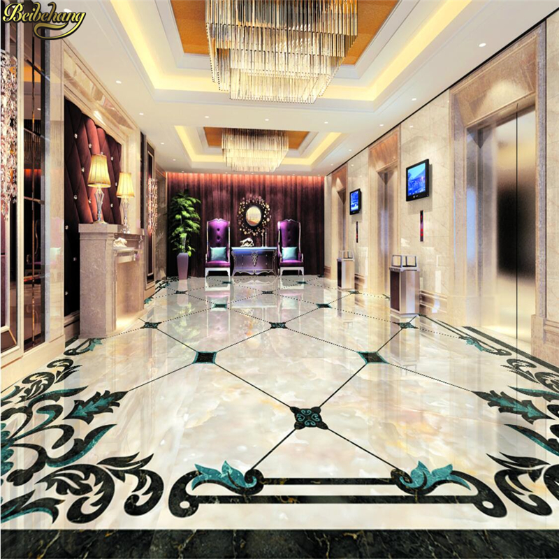 beibehang Custom Photo Self Adhesive 3D Floor Atmosphere Marble Parquet Photo Wallpaper Mural Decorative papel de parede free shipping marble texture parquet flooring 3d floor home decoration self adhesive mural baby room bedroom wallpaper mural