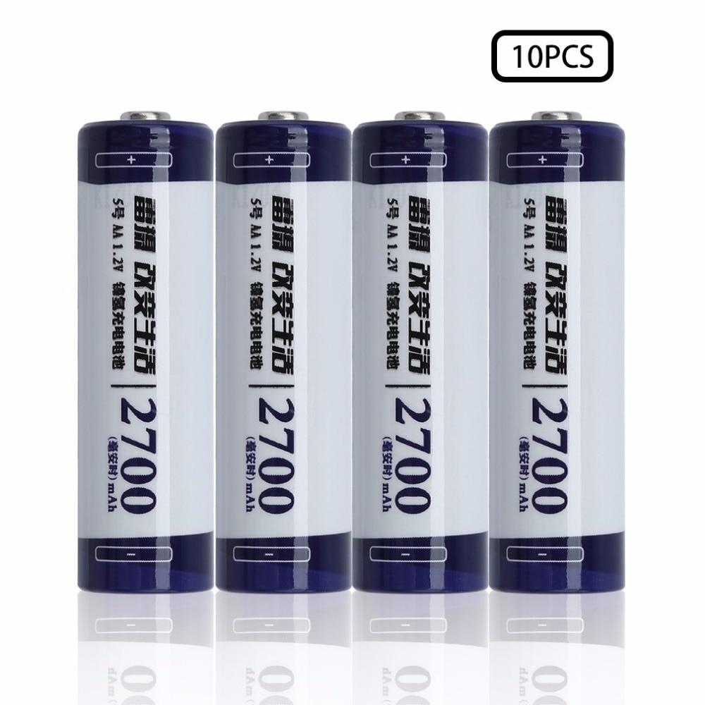 LEISE Ni-MH Battery 1.2V AA 2700mAh Environmentally Friendly Rechargeable Battery High Capacity Economic Battery 10pcs/20pcs
