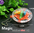 2 pcs 3D Mini Magic Intellect Maze Ball Kids Children Balance Logic Ability Puzzle Game Educational Training Tools GYH
